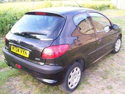 Peugeot 206 Fever 1.4 Black 2004 New MOT For Sale (picture 3 of 6)