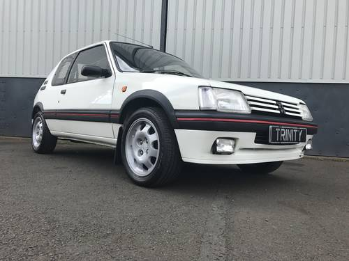 1992 Peugeot 205 Gti in striking Alpine White For Sale (picture 1 of 6)