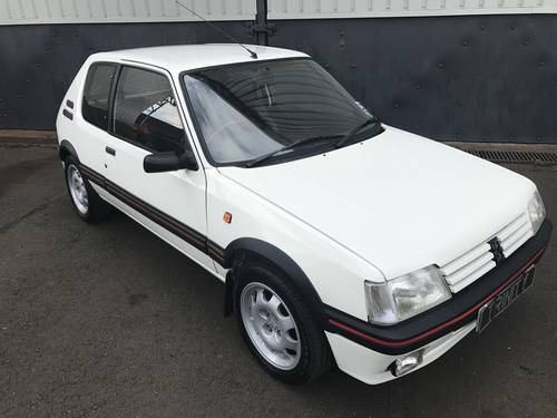 1992 Peugeot 205 Gti in striking Alpine White For Sale (picture 3 of 6)