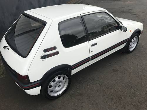 1992 Peugeot 205 Gti in striking Alpine White For Sale (picture 5 of 6)