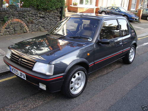 1991 peugeot 205 gti sold car and classic