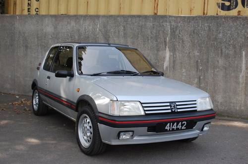 1990 Peugeot 1.6 GTi Low mileage two previous owners For Sale (picture 1 of 6)
