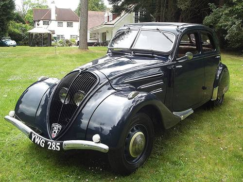 1936 PEUGEOT AIRFLOW SALOON SOLD (picture 1 of 6)