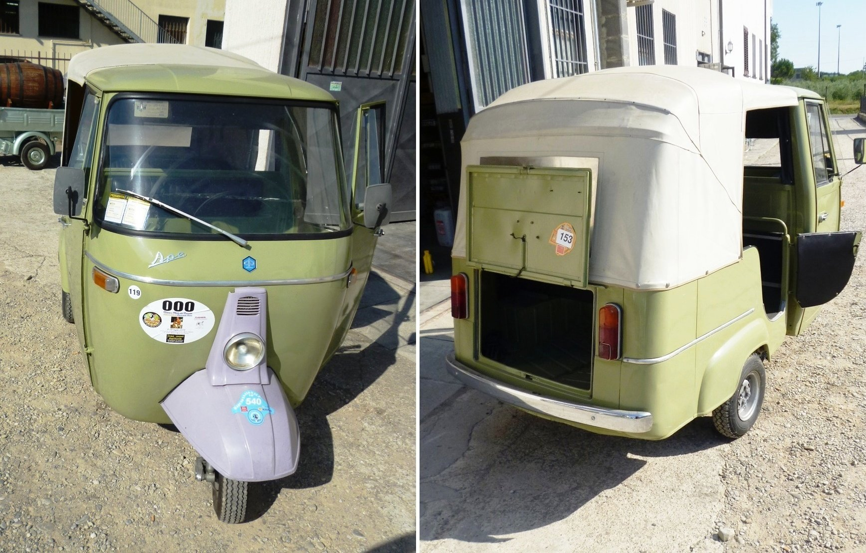 1968 Piaggio Ape D-AD2 people transport For Sale (picture 3 of 6)