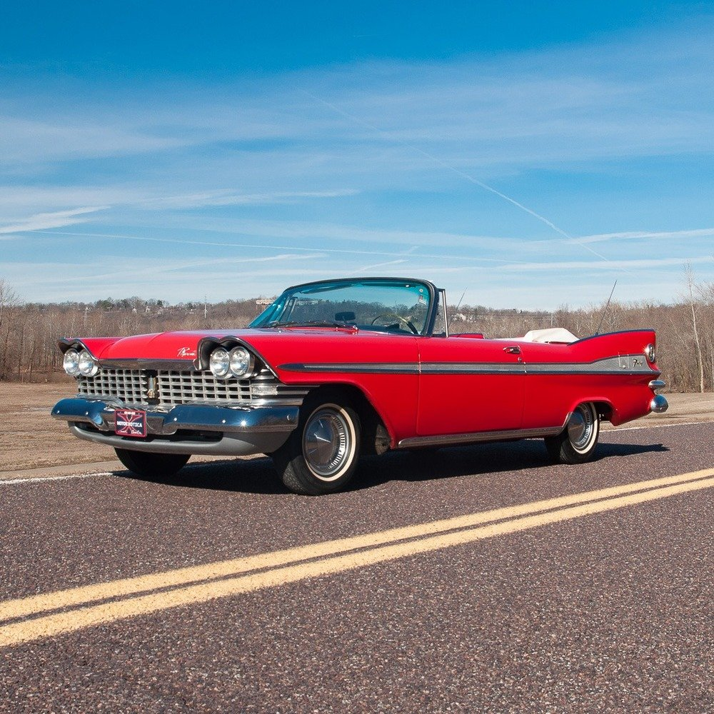 1959 Plymouth Sport Fury Convertible = Red Driver Rare $58.9 For Sale (picture 1 of 6)
