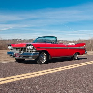 1959 Plymouth Sport Fury Convertible = Red Driver Rare $58.9