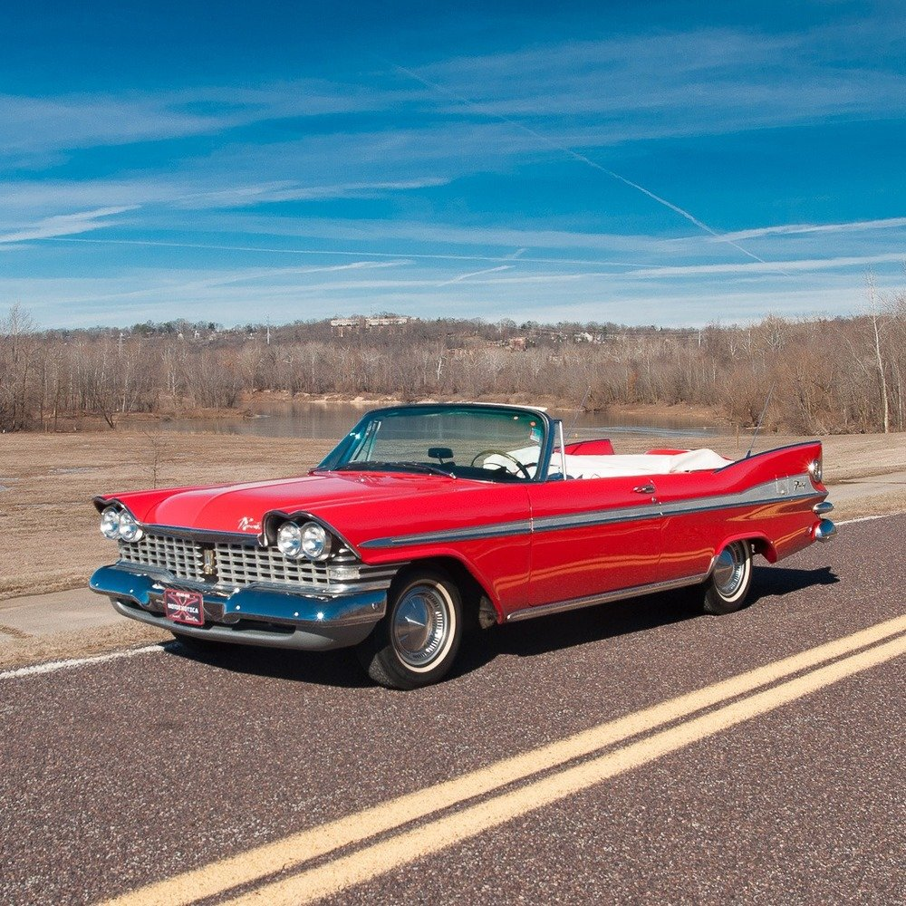 1959 Plymouth Sport Fury Convertible = Red Driver Rare $58.9 For Sale (picture 2 of 6)