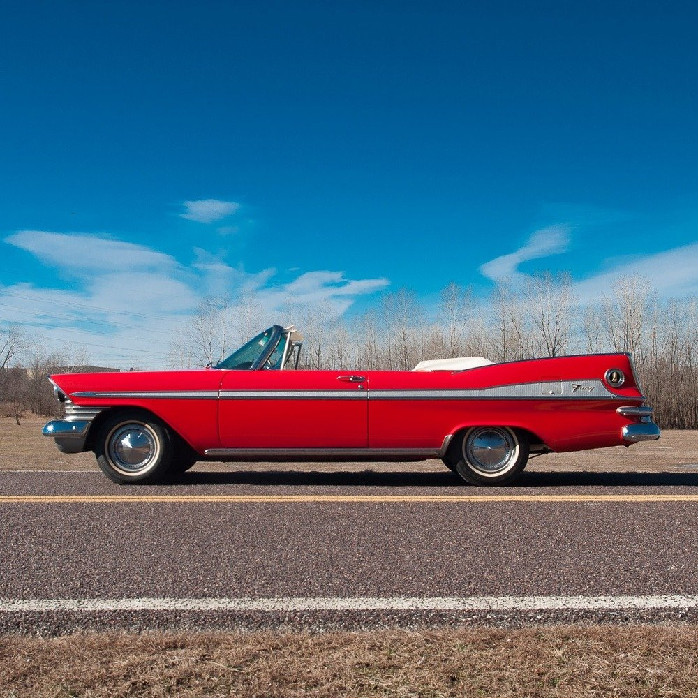 1959 Plymouth Sport Fury Convertible = Red Driver Rare $58.9 For Sale (picture 3 of 6)