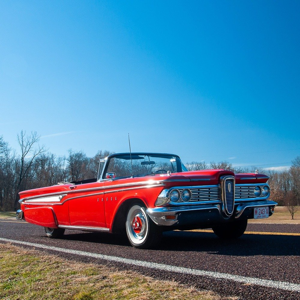 1959 Plymouth Sport Fury Convertible = Red Driver Rare $58.9 For Sale (picture 4 of 6)