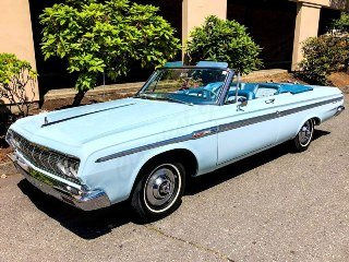 1964  Plymouth Sport Fury Convertible low 25k miles 318 $29.9