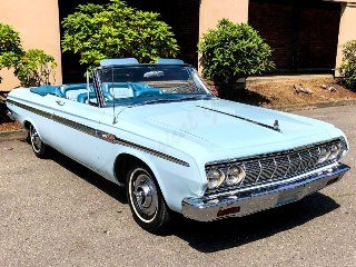 1964 Plymouth Sport Fury Convertible low 25k miles 318 $29.9 For Sale (picture 2 of 6)