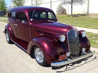1937 Plymouth HumpBack Sedan = Custom 318 FI AC AT $28.5k