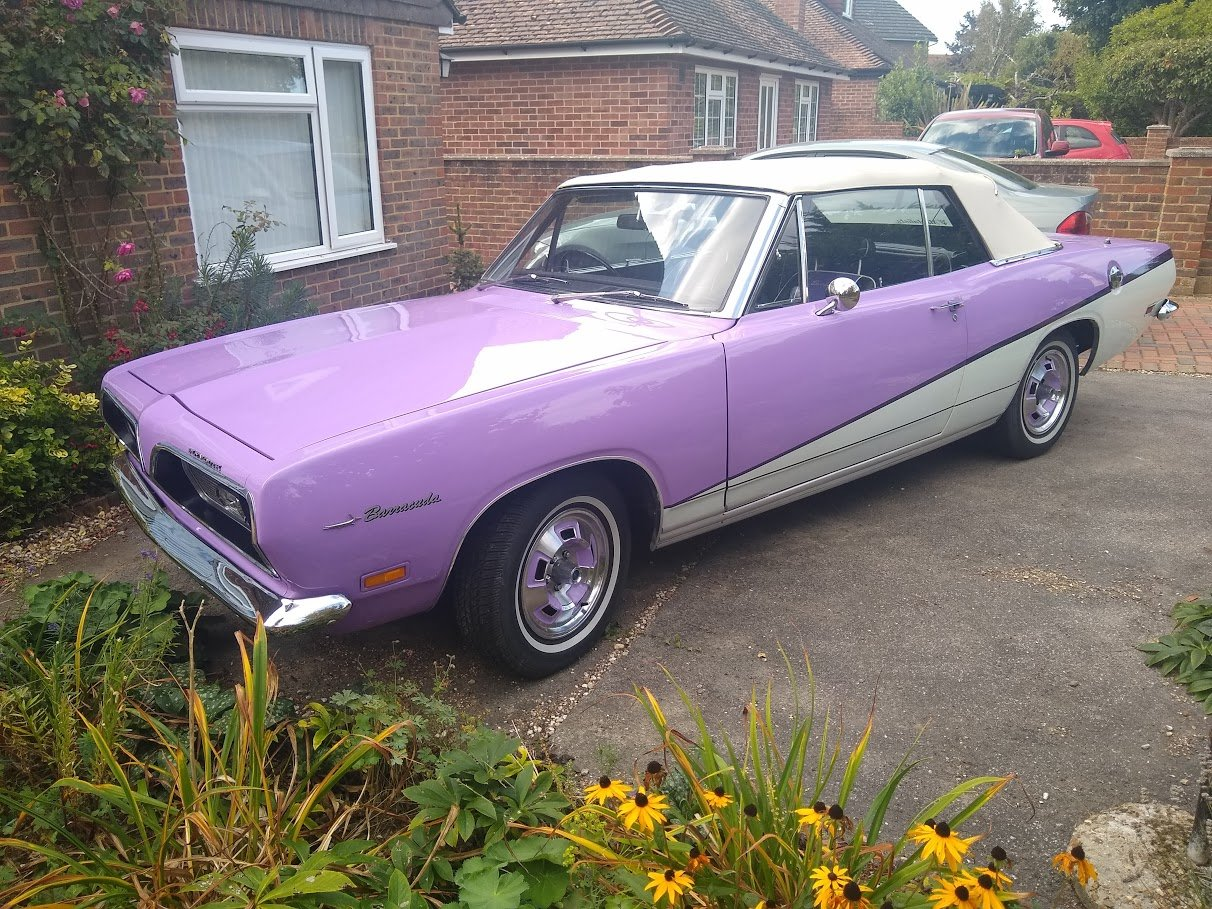 1970 Plymouth Barracuda RHD for auction 29th - 30th October. SOLD by Auction (picture 1 of 6)