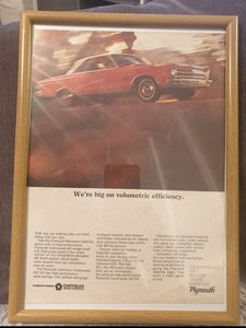 1965 Original Plymouth Belvedere Advert