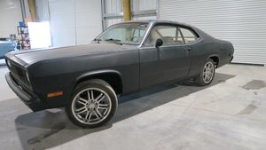 1972 Plymouth Duster Slant 6 Auto Black(~)Tan Project $6.9k For Sale