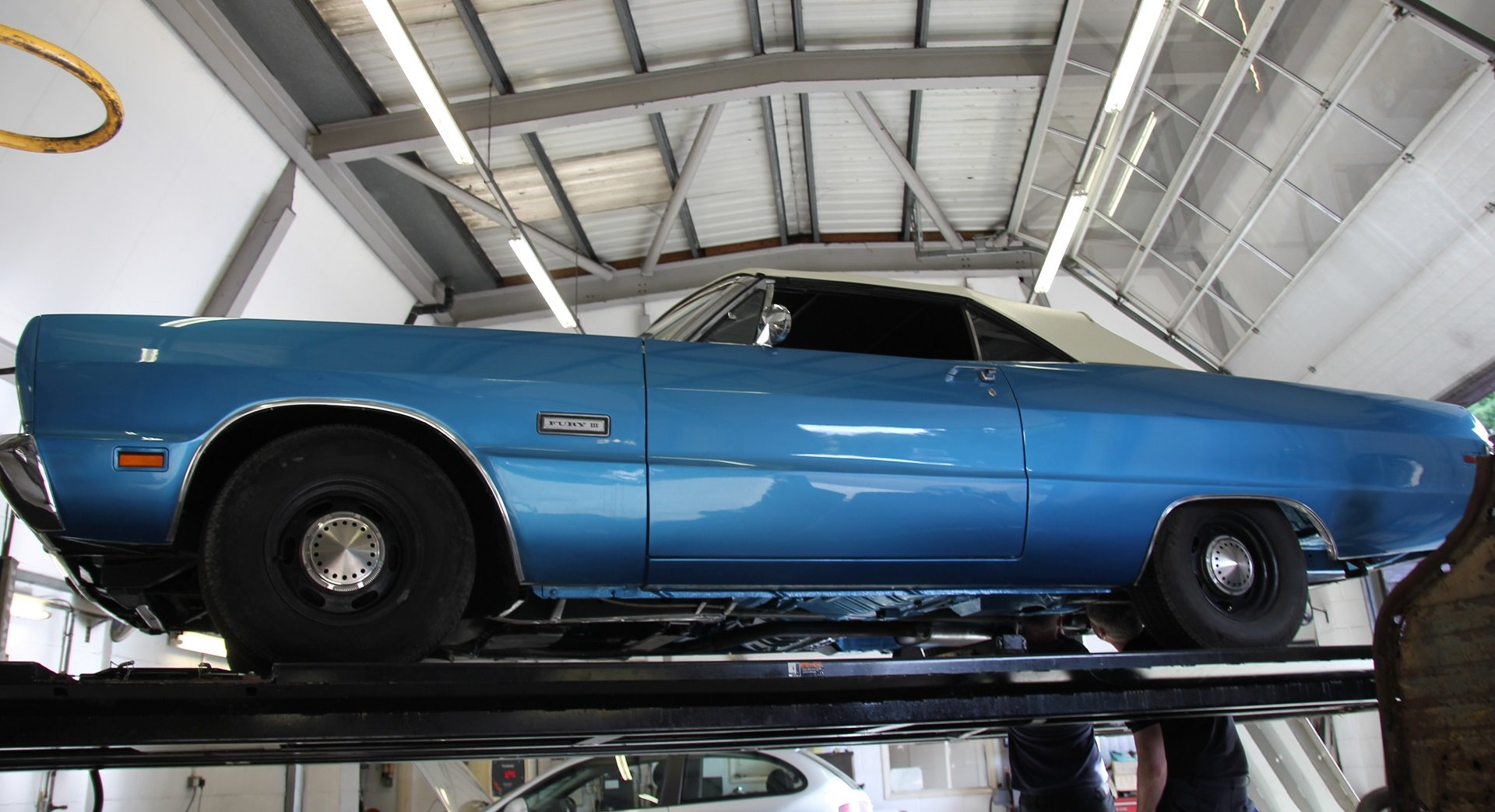 1969 Plymouth Fury III Convertible original blue. For Sale (picture 6 of 6)