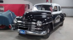 1948 PLYMOUTH P15 DELUXE POLICE SHOW CAR