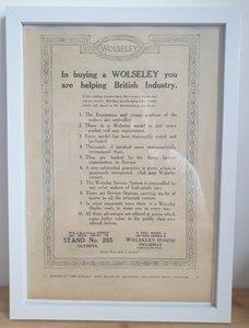 Picture of 1965 Original 1922 Wolseley Framed Advert