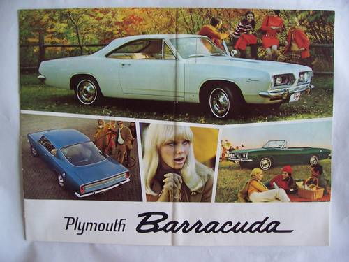1967 ' 67 PLYMOUTH BARRACUDA COUPE / CONVERTIBLE SALES BROCHURE For Sale (picture 1 of 6)