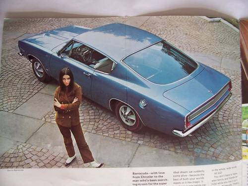 1967 ' 67 PLYMOUTH BARRACUDA COUPE / CONVERTIBLE SALES BROCHURE For Sale (picture 2 of 6)