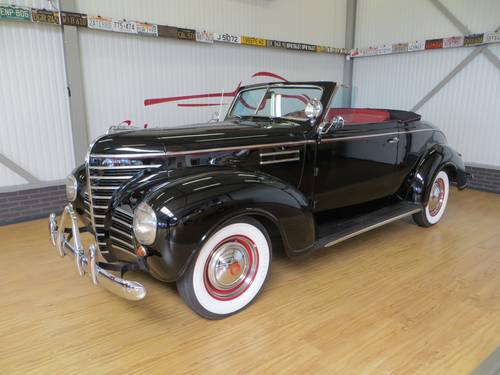 1939 Plymouth P8 Deluxe Convertible Coupé With Rumble Seat For Sale (picture 1 of 6)