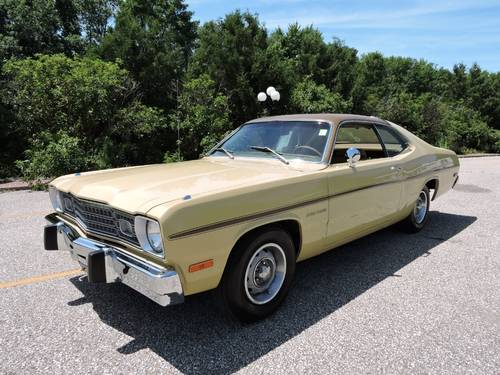 1973 Plymouth Duster 2DR * Gold For Sale (picture 1 of 6)