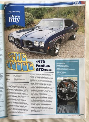 1970 PONTIAC GTO JUDGE TRIBUTE For Sale (picture 6 of 6)