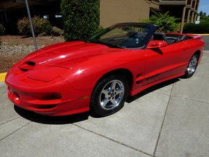 1989 Pontiac Formula Trans Am = 5.7 liter auto Red(~)Grey  For Sale