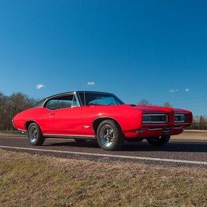 1968 Pontiac GTO Coupe = Red 400-v8 Auto AC code 42 $35.9k