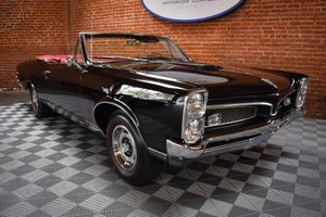 1967 Pontiac GTO Convertible = Black 4 Speed Manual $59.5k For Sale