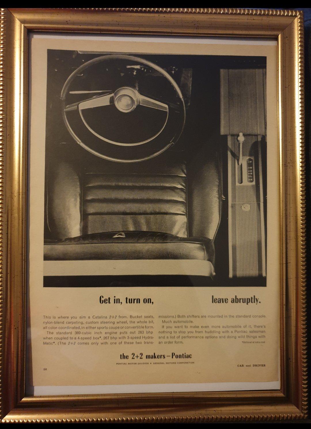 1964 Pontiac Catalina Advert Original  For Sale (picture 1 of 2)