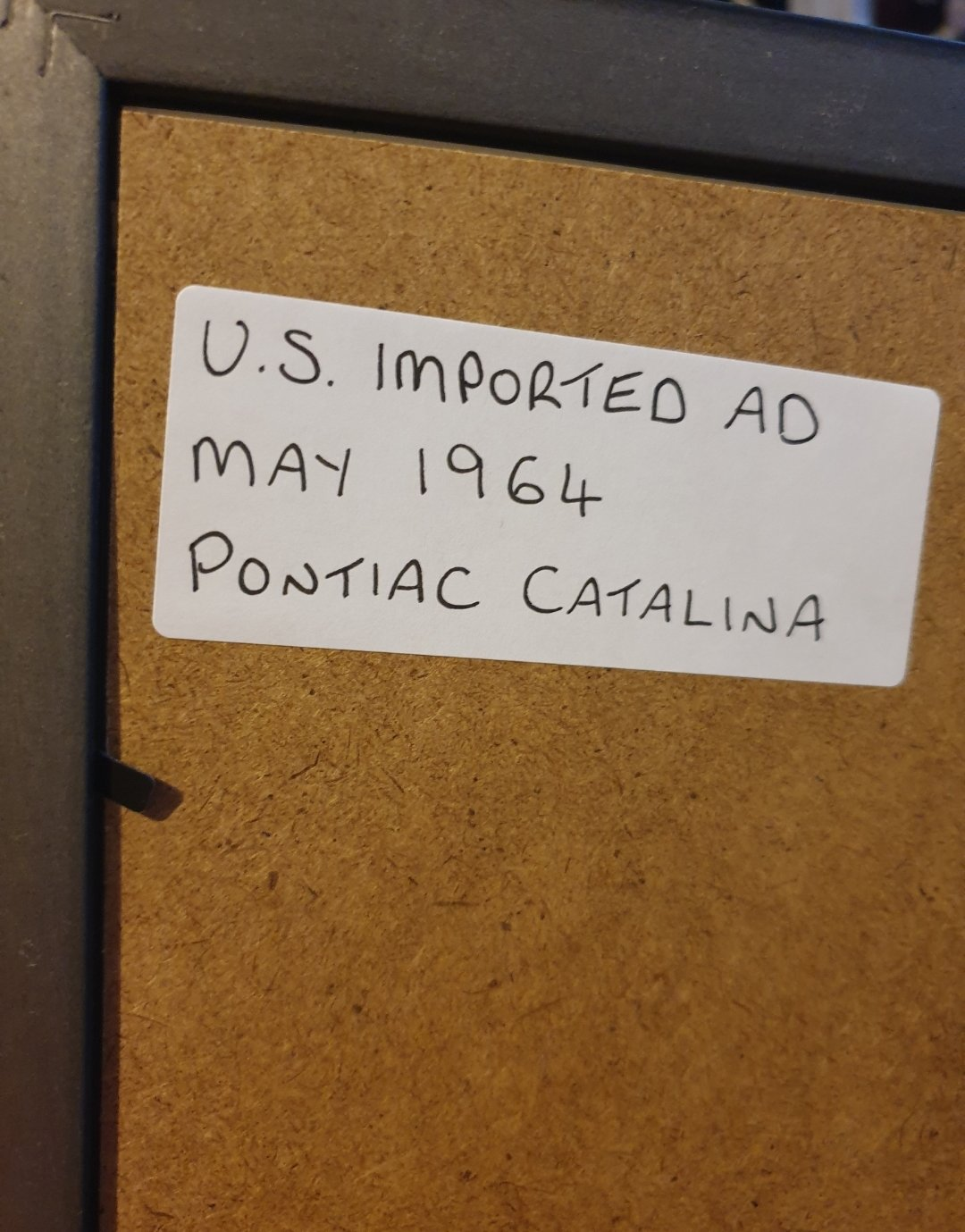 1964 Pontiac Catalina Advert Original  For Sale (picture 2 of 2)