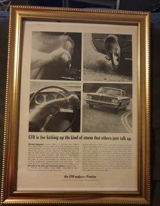 1964 Original Pontiac GTO Advert