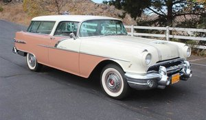 1956 Pontiac Safari Wagon clean Tan(~)Tan driver $53k
