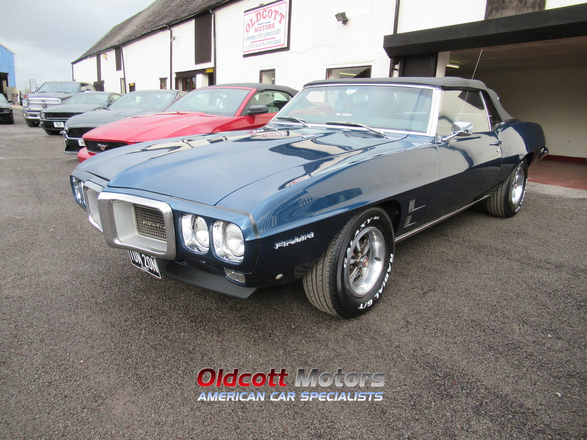 1969 PONTIAC FIREBIRD 350 CONVERTIBLE 5.7 LITRE MANUAL For Sale (picture 1 of 6)