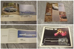 0000 PONTIAC ORIGINAL SALES BROCHURES 4 SALE