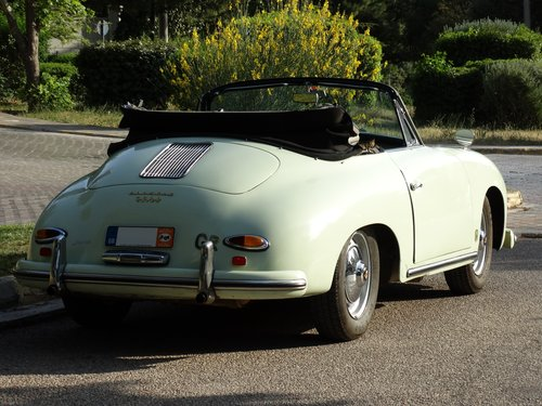 1959 Porsche 356 A Super Cabriolet, rare Glacier white For Sale (picture 2 of 6)