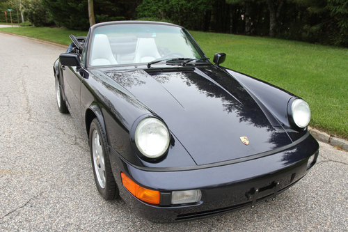 1991 Porsche C2 Cabriolet with 13897 original miles. For Sale (picture 1 of 6)