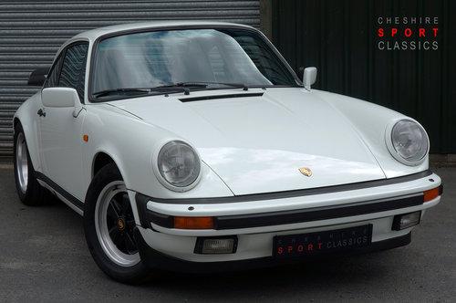 1988 Porsche 911 Carrera 3.2 Sport, White, G50, 116k, FSH. SOLD (picture 1 of 6)