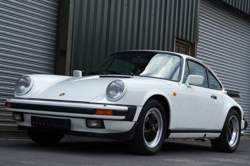 1988 Porsche 911 Carrera 3.2 Sport, White, G50, 116k, FSH. SOLD (picture 3 of 6)