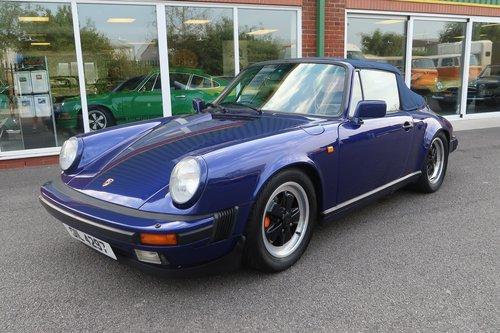 1985 Porsche 911 Carrera 3.2 Cabriolet in Prussian Blue SOLD (picture 1 of 6)