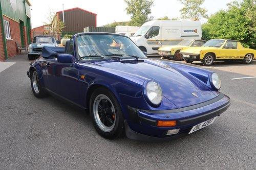 1985 Porsche 911 Carrera 3.2 Cabriolet in Prussian Blue SOLD (picture 2 of 6)
