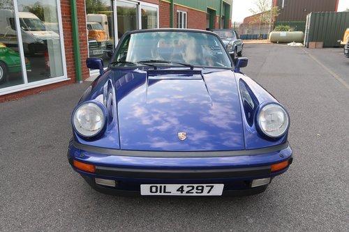 1985 Porsche 911 Carrera 3.2 Cabriolet in Prussian Blue SOLD (picture 3 of 6)