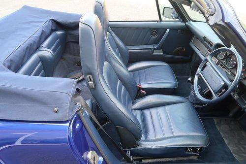 1985 Porsche 911 Carrera 3.2 Cabriolet in Prussian Blue SOLD (picture 5 of 6)