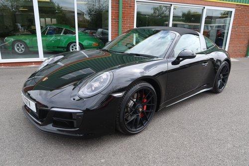 2018 Porsche 911 Targa 4 GTS PDK in Jet Black Metallic SOLD (picture 1 of 6)