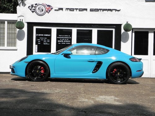cayman    pdk finished  miami blue sold car  classic