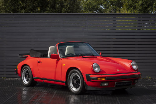 1989 PORSCHE 911 3.2 CARRERA SPORT CABRIOLET G50 For Sale (picture 1 of 6)