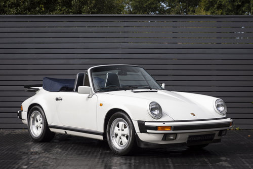 1989 PORSCHE 911 3.2 CARRERA SPORT CABRIOLET  G50 SOLD (picture 1 of 6)