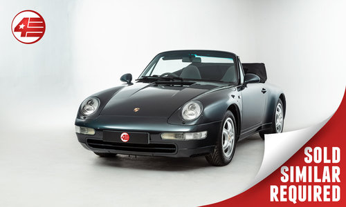 1995 Porsche 993 Carrera Cabriolet /// UK RHD /// 66k Miles SOLD (picture 1 of 2)