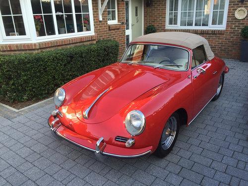 Porsche 356B Cabriolet 1959 UK Registered LHD For Sale (picture 6 of 6)